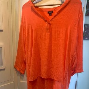 NWOT Orange Tunic Top